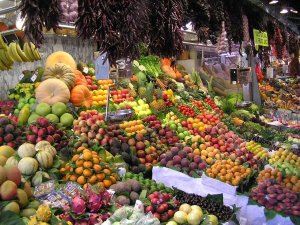Ethical Questions: Produce market in Barcelona