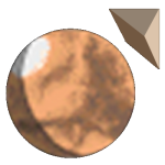 Tharsis Highlands logo (Mars globe and pyramid)