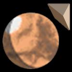 Tharsis Highlands logo (Mars globe and pyramid)