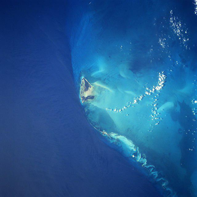 Bimini Island from space