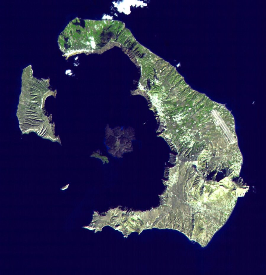 Santorini (Thera) from space