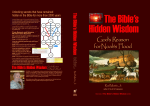 The Bible's Hidden Wisdom book cover full