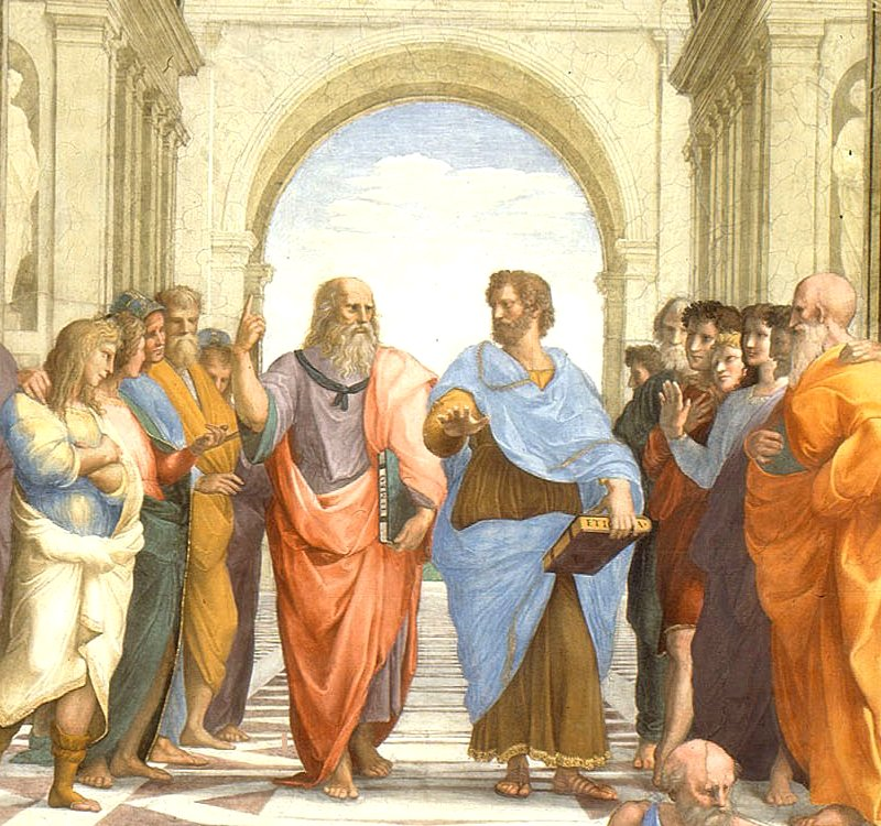 Mission: Atlantis picture. School of Athens, by Raphael, with Plato and Aristotle.