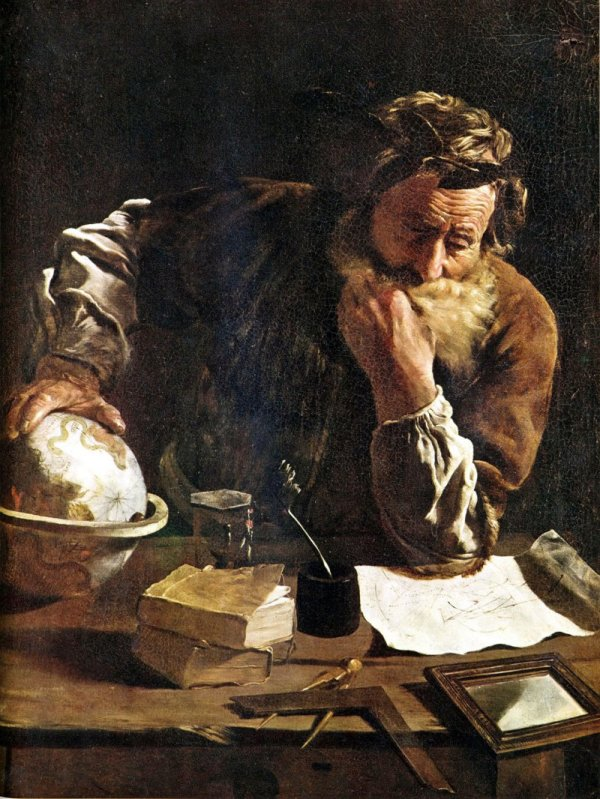 Mission: Atlantis picture. Painting of Archimedes by Fetti (1620).