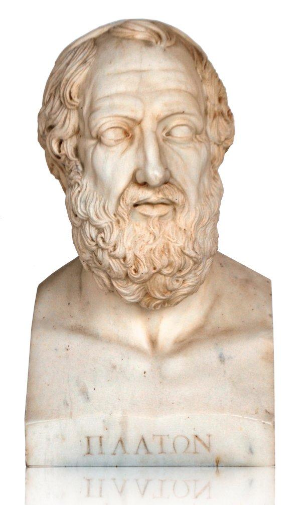 Atlantis: Evidence -- Bust of Greek philosopher, Plato.